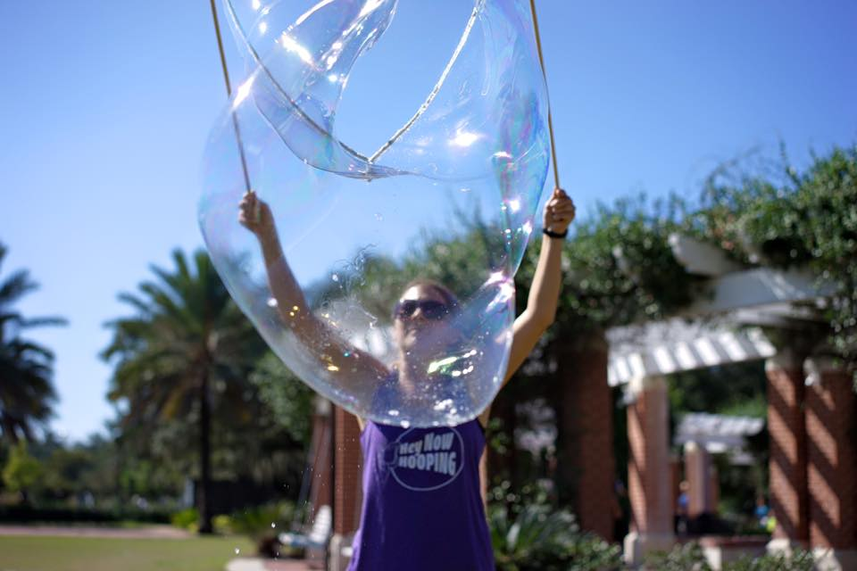 Bubble Play by Hey Now Hooping, Photo by Paul Broussard