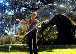 Magic Bubble Time at the Tree of Life, New Orleans. Photo by Rowan Twosisters